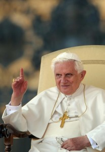 Pope Benedict XVI gestures at St.Peter's