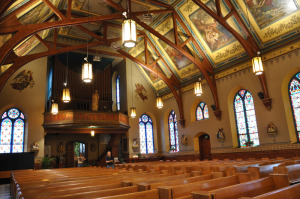 The interior of the church. Copyright James Hrkach