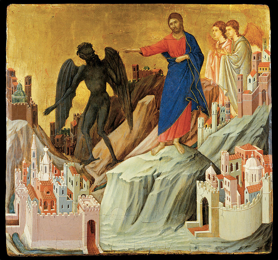 The Temptation of Christ on the Mountain- Duccio Di Buoninsegna 1308
