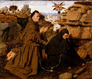 Attributed_to_Jan_van_Eyck,_Netherlandish_(active_Bruges),_c._1395_-_1441_-_Saint_Francis_of_Assisi_Receiving_the_Stigmata_-_Google_Art_Project