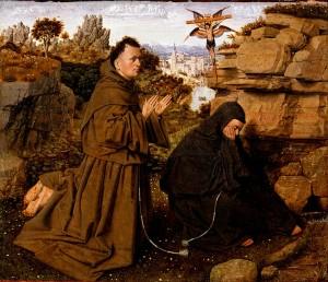 Attributed_to_Jan_van_Eyck,_Netherlandish_(active_Bruges),_c._1395_-_1441_-_Saint_Francis_of_Assisi_Receiving_the_Stigmata_-_Google_Art_Project