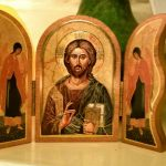 Triptych of Christ with angels